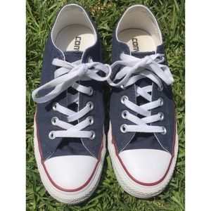 Red, White, & Blue Converse Low Tops Shoes